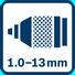 Portabrocas metálico de 1,0 - 13,0 mm