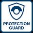 Cubierta protectora con seguro antirrotatorio